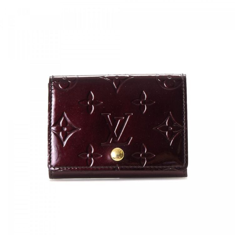 Louis Vuitton Business Card Holder Monogram Vernis Patent Leather
