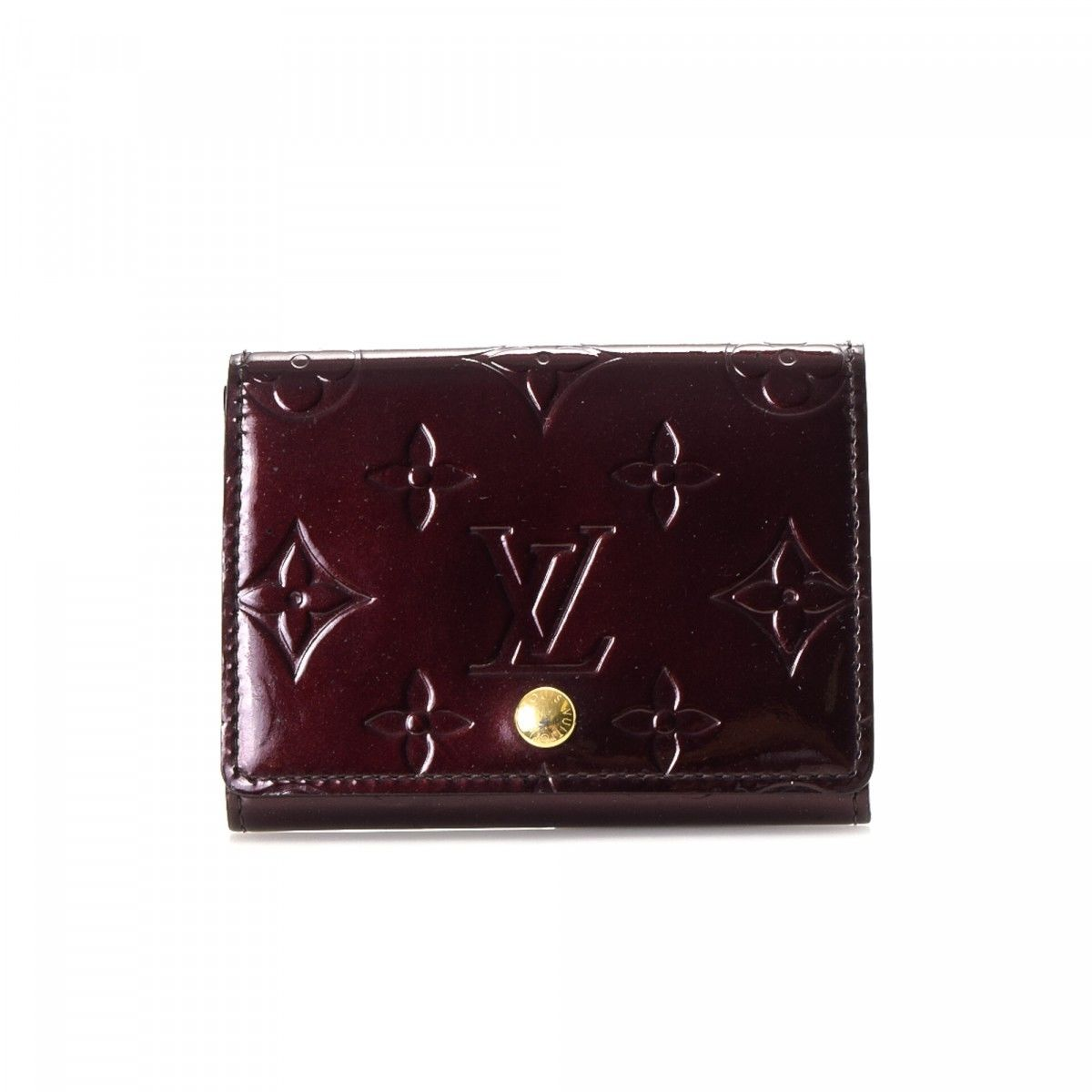 Louis Vuitton Business Card Holder Monogram Vernis Patent leather ...