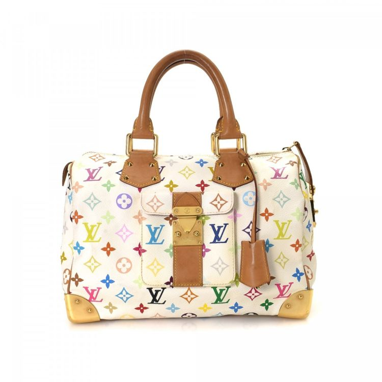 a8108fbb13f6 Louis Vuitton Speedy 30 Monogram Multicolore Coated Canvas - LXRandCo -  Pre-Owned Luxury Vintage ...