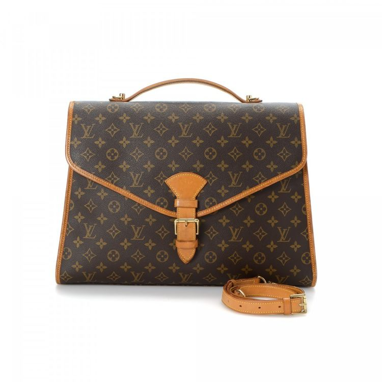 eaa96e65af93 The authenticity of this vintage Louis Vuitton Beverly GM briefcase is  guaranteed by LXRandCo. This beautiful laptop bag was crafted in monogram  coated ...