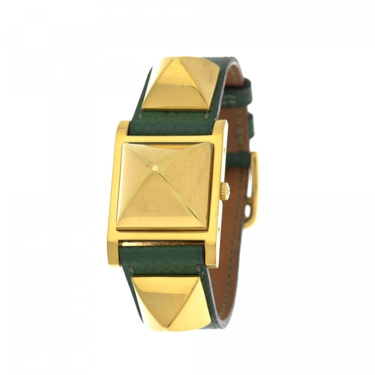 Hermès Medor 23mm Gold Tone 18K Gold Plated Stainless Steel Watches