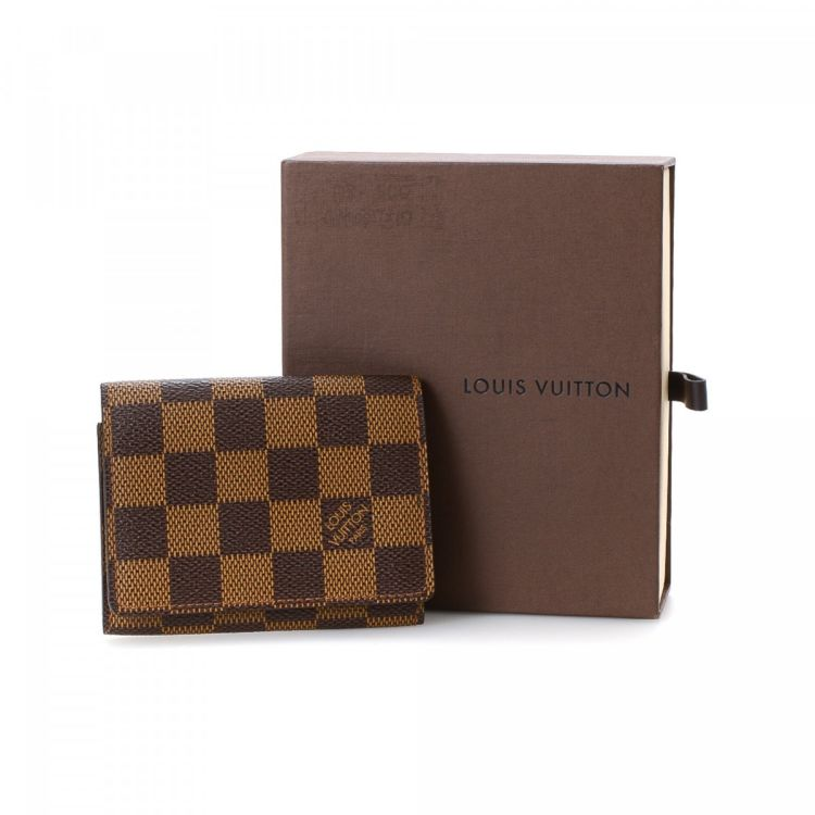 Louis Vuitton Business Card Holder Damier Ebene Coated Canvas ...