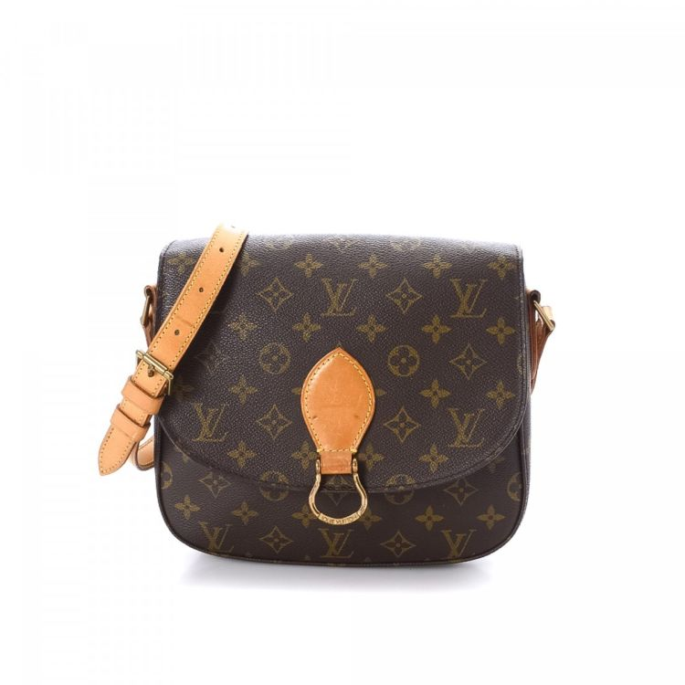 e95d3ac5beef ... this vintage Louis Vuitton Saint-Cloud 24 messenger   crossbody bag.  This signature saddle bag was crafted in monogram coated canvas in  beautiful brown.