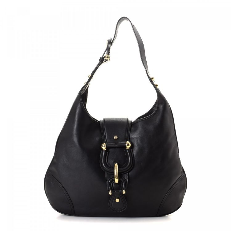 c78d397a0 Burberry Buckle Detail Leather Hobo Bag Leather - LXRandCo - Pre ...