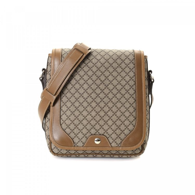 d777e1d7447100 Gucci Diamante Shoulder Bag Diamante Canvas - LXRandCo - Pre-Owned ...