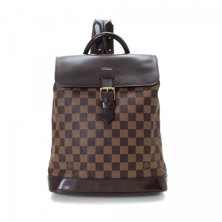 b676fc837116 The authenticity of this vintage Louis Vuitton Soho backpack is guaranteed  by LXRandCo. Crafted in damier ebene coated canvas