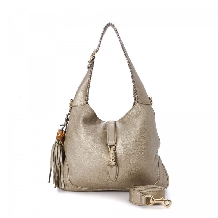 aefa9ee67a22b0 Gucci New Jackie Two Way Hobo Leather - LXRandCo - Pre-Owned Luxury ...