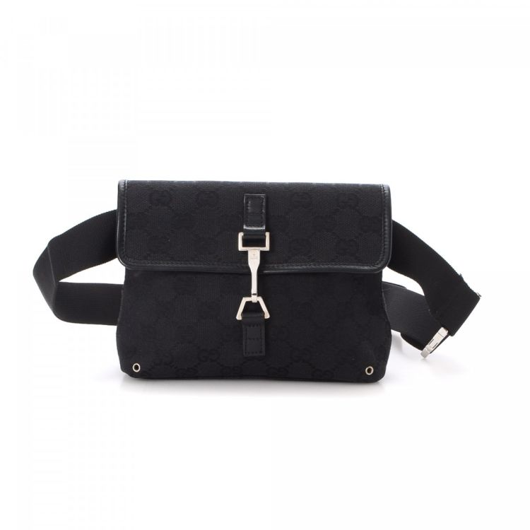 b135267e0a9 LXRandCo guarantees this is an authentic vintage Gucci Waist Pouch vanity  case   pouch. Crafted in gg canvas