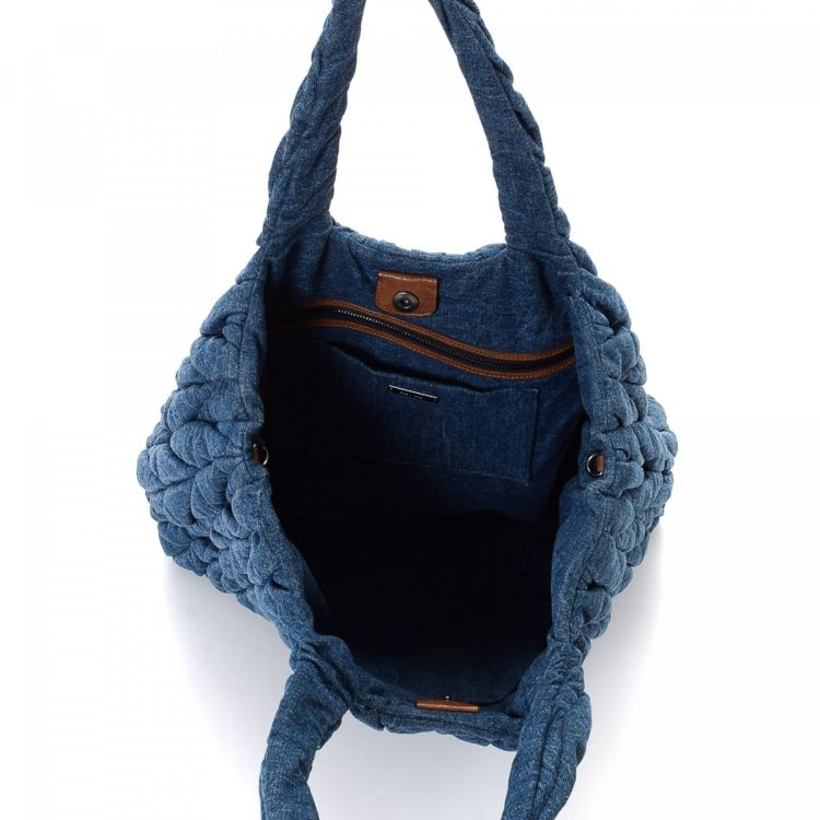 Lxrandco Guarantees This Is An Authentic Vintage Miu Bag Tote Chic Comes In Beautiful Blue Denim Due To The Nature Of