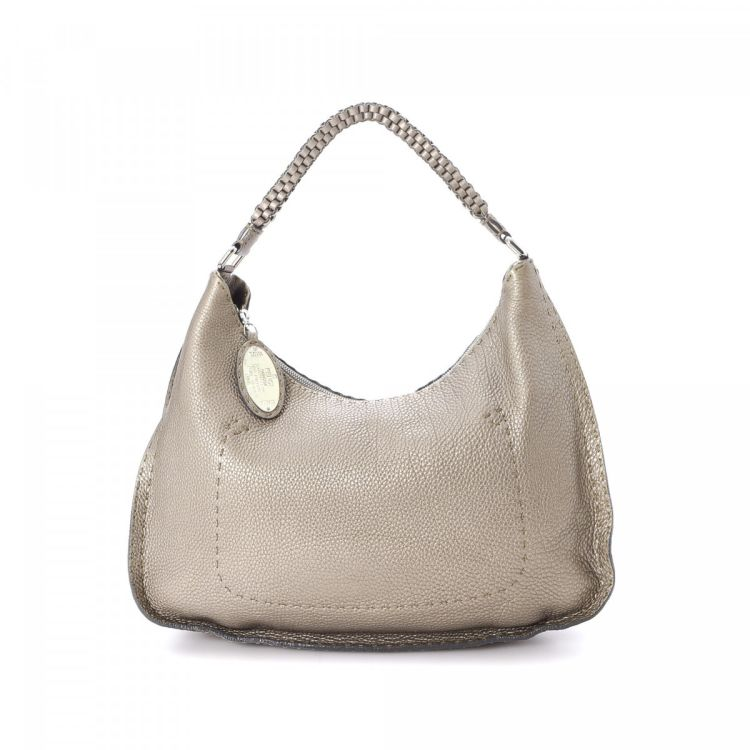 18b753140a9 ... authentic fendi selleria hobo bag leather lxrandco pre owned luxury  vintage c171d 9eaad