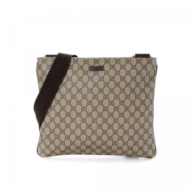 b5941af7389f Gucci Messenger Bag GG Supreme Coated Canvas - LXRandCo - Pre-Owned ...