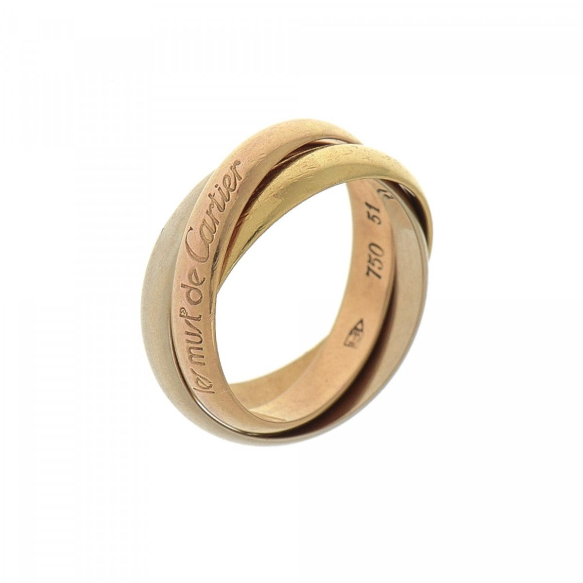 cartier trinity ring us5 5 fr 51 18k gold lxrandco pre owned