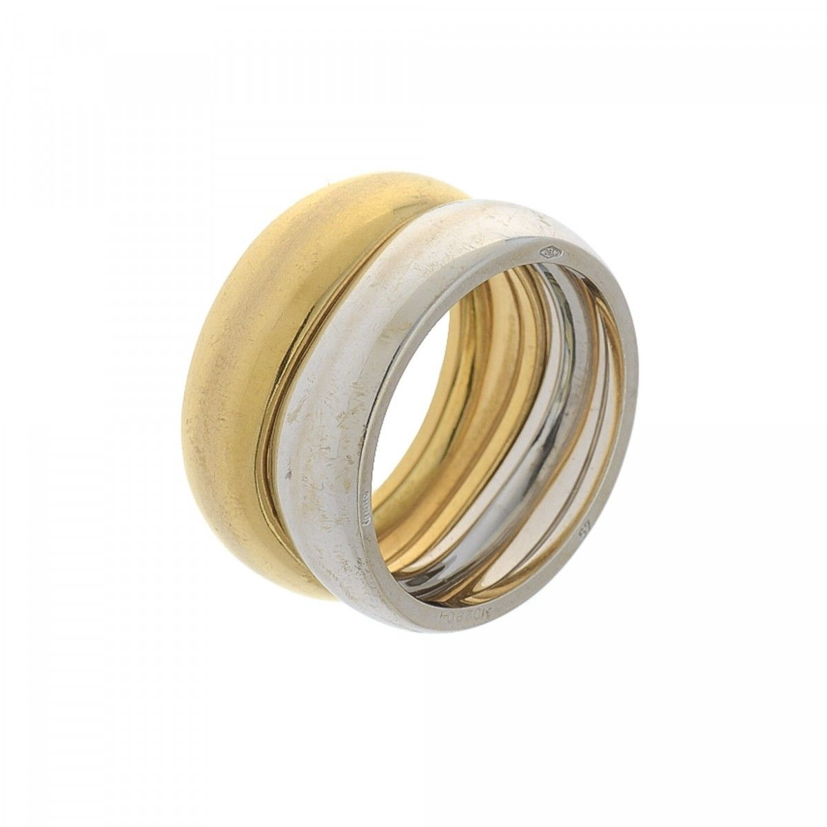 cartier double stack wave bands ring us 825 fr 57 18k gold lxrandco preowned luxury vintage