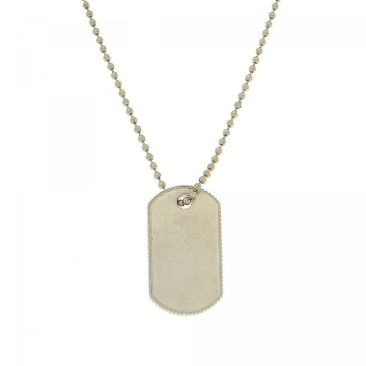 5482f7412 LXRandCo guarantees this is an authentic vintage Tiffany Dog Tag 51cm  necklace. This lovely chain was crafted in 925 silver in beautiful silver  tone.