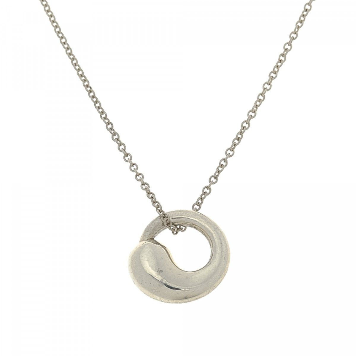 Tiffany elsa peretti eternal circle pendant necklace 425cm 925 tiffany elsa peretti eternal circle pendant necklace 425cm 925 silver lxrandco pre owned luxury vintage mozeypictures Image collections