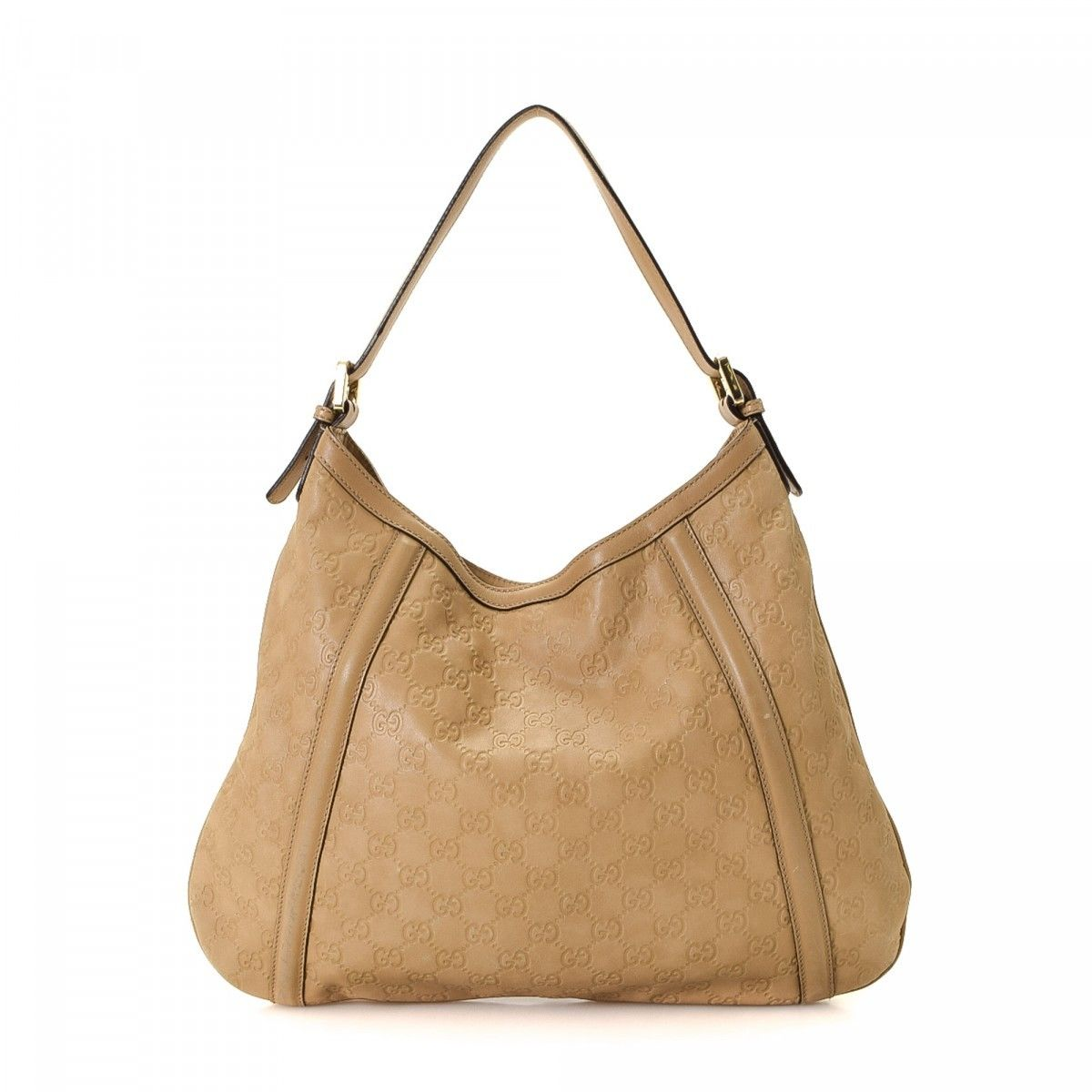 0aa0001dd449a4 Gucci Guccissima Britt Hobo Bag. LXRandCo guarantees the authenticity of  this vintage ...