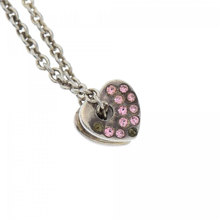 Coach heart bead necklace 46cm 925 sterling silver lxrandco pre lxrandco guarantees the authenticity of this vintage coach heart bead 46cm necklace this lovely pendant necklace was crafted in 925 silver in beautiful aloadofball Images