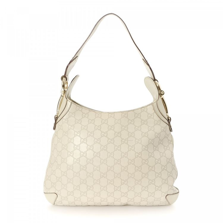 1a5ca1e0a5d LXRandCo guarantees this is an authentic vintage Gucci Horsebit shoulder bag.  Crafted in gg imprime leather