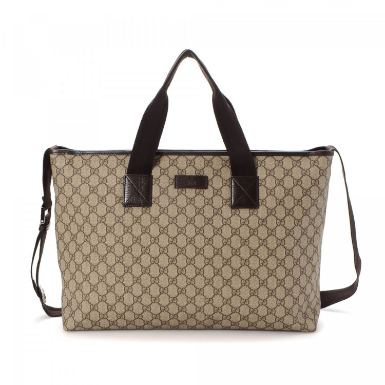192bda2ba05c Gucci GG Supreme Two Way Tote Bag GG Supreme Coated Canvas ...