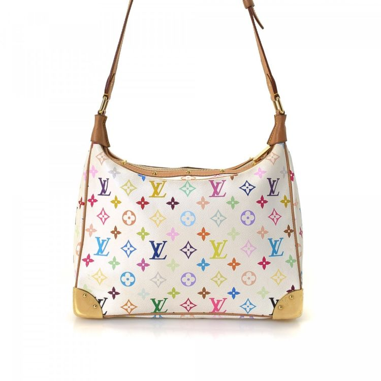 7fd5094c2879 ... an authentic vintage Louis Vuitton Boulogne 30 shoulder bag. This  exquisite bag in beautiful multi color is made in monogram multicolore  coated canvas.