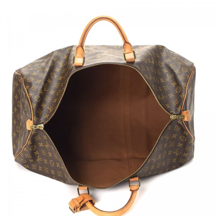 26cf8e20d86f ... Coated Canvas Lxrandco Pre Owned Luxury Vintage Louis Vuitton Keepall  60 Monogram Canvas Duffel Bag ...