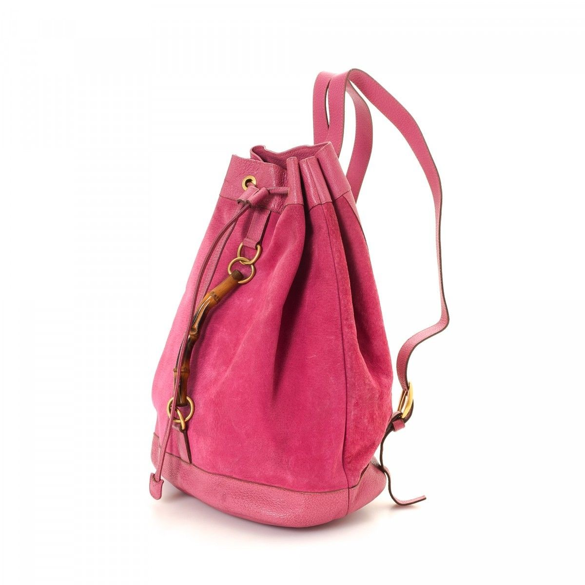 5a75c65c0 Gucci Bamboo Backpack Suede - LXRandCo - Pre-Owned Luxury Vintage