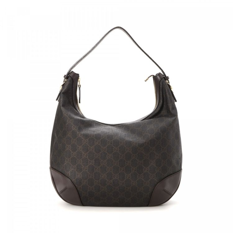 a4239b253740 The authenticity of this vintage Gucci Nice Hobo shoulder bag is guaranteed  by LXRandCo. This exquisite bag was crafted in gg supreme coated canvas in  ...