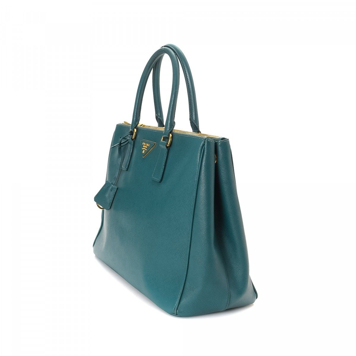 Saffiano Galleria Bag. Free Shipping. LXRandCo guarantees this is an authentic  vintage Prada Galleria Bag handbag. This chic pocketbook in beautiful teal  ... 9a2f4bbd56fe3