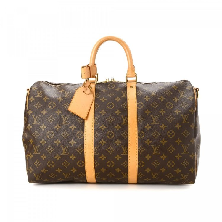 9994e0d435a8 LXRandCo guarantees this is an authentic vintage Louis Vuitton Keepall 45  Bandouliere travel bag. This beautiful travel bag in brown is made in  monogram ...