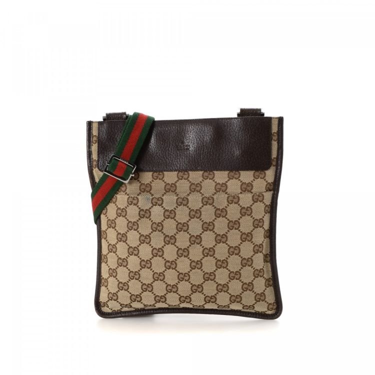 9cc0a794bee11b LXRandCo guarantees this is an authentic vintage Gucci Web Crossbody Bag  messenger & crossbody bag. Crafted in gg canvas, this signature hobo bag  comes in ...