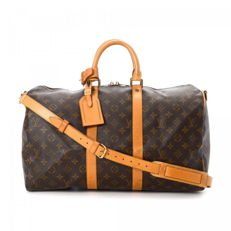 68f9b74525f1 Louis Vuitton Keepall 45 Bandouliere Monogram Coated Canvas ...