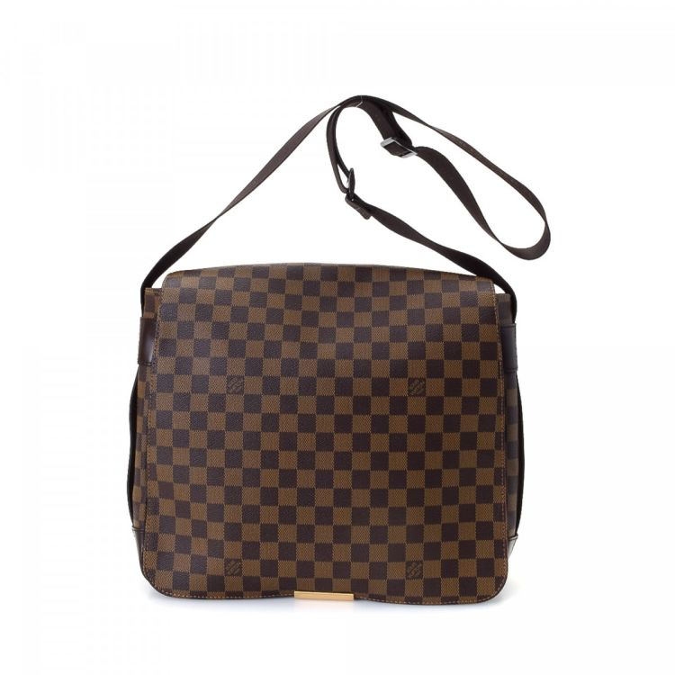 d1d723c22819 LXRandCo guarantees the authenticity of this vintage Louis Vuitton Bastille  messenger   crossbody bag. Crafted in damier ebene coated canvas