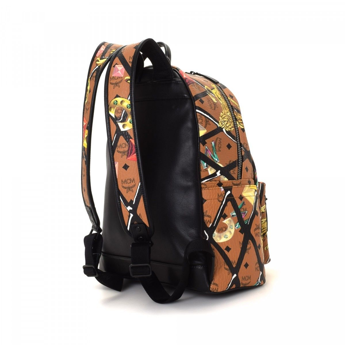 f8b3d50b460d MCM Lion Backpack Coated Canvas - LXRandCo - Pre-Owned Luxury Vintage