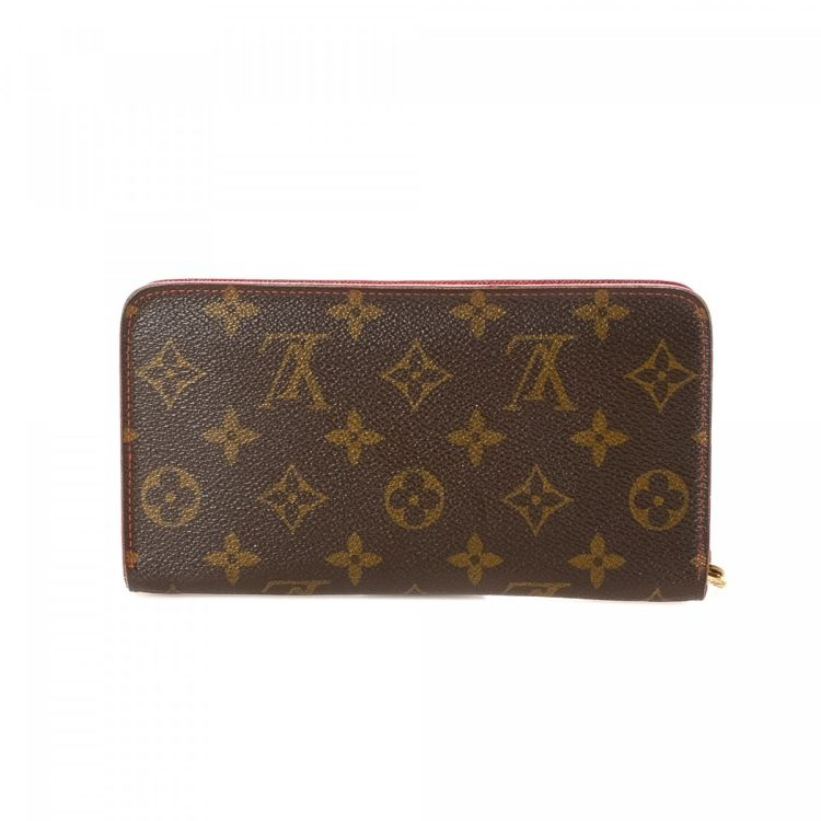 30a9a5a36c7b6 The authenticity of this vintage Louis Vuitton Porte Monnaie Zippy wallet  is guaranteed by LXRandCo. This classic card case was crafted in monogram  cherry ...
