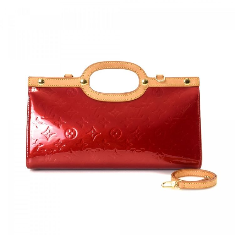 The Authenticity Of This Vintage Louis Vuitton Roxbury Drive Handbag Is Guaranteed By Lxrandco Stylish Purse In Red Made Vernis Patent Leather