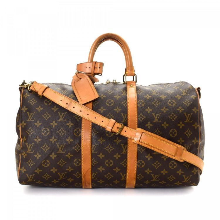 307282daef3 Louis Vuitton Keepall 45 Bandouliere Monogram Coated Canvas - LXRandCo -  Pre-Owned Luxury Vintage