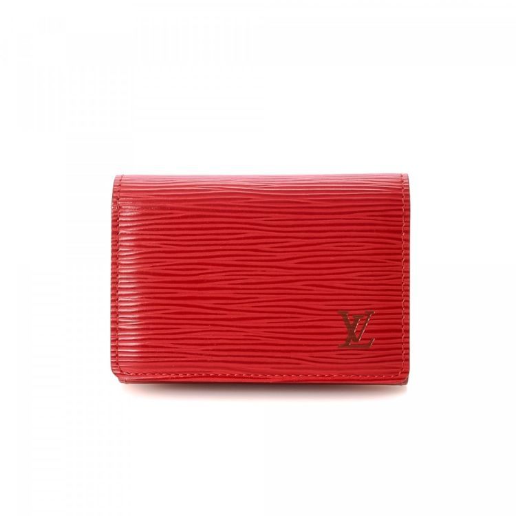 Louis Vuitton Business Card Holder Epi Leather - LXRandCo - Pre ...