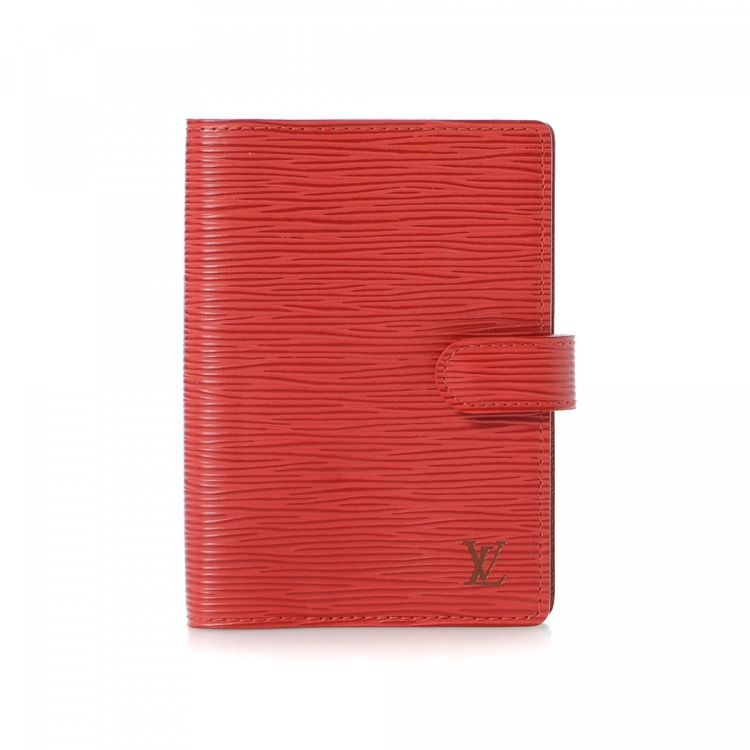 fbae8a5003b24 Louis Vuitton Small Ring Agenda Epi Leather - LXRandCo - Pre-Owned ...