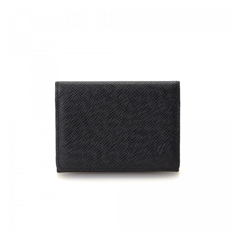 Louis vuitton business card holder taiga leather lxrandco pre lxrandco guarantees this is an authentic vintage louis vuitton business card holder wallet this signature compact wallet in ardoise is made in taiga colourmoves