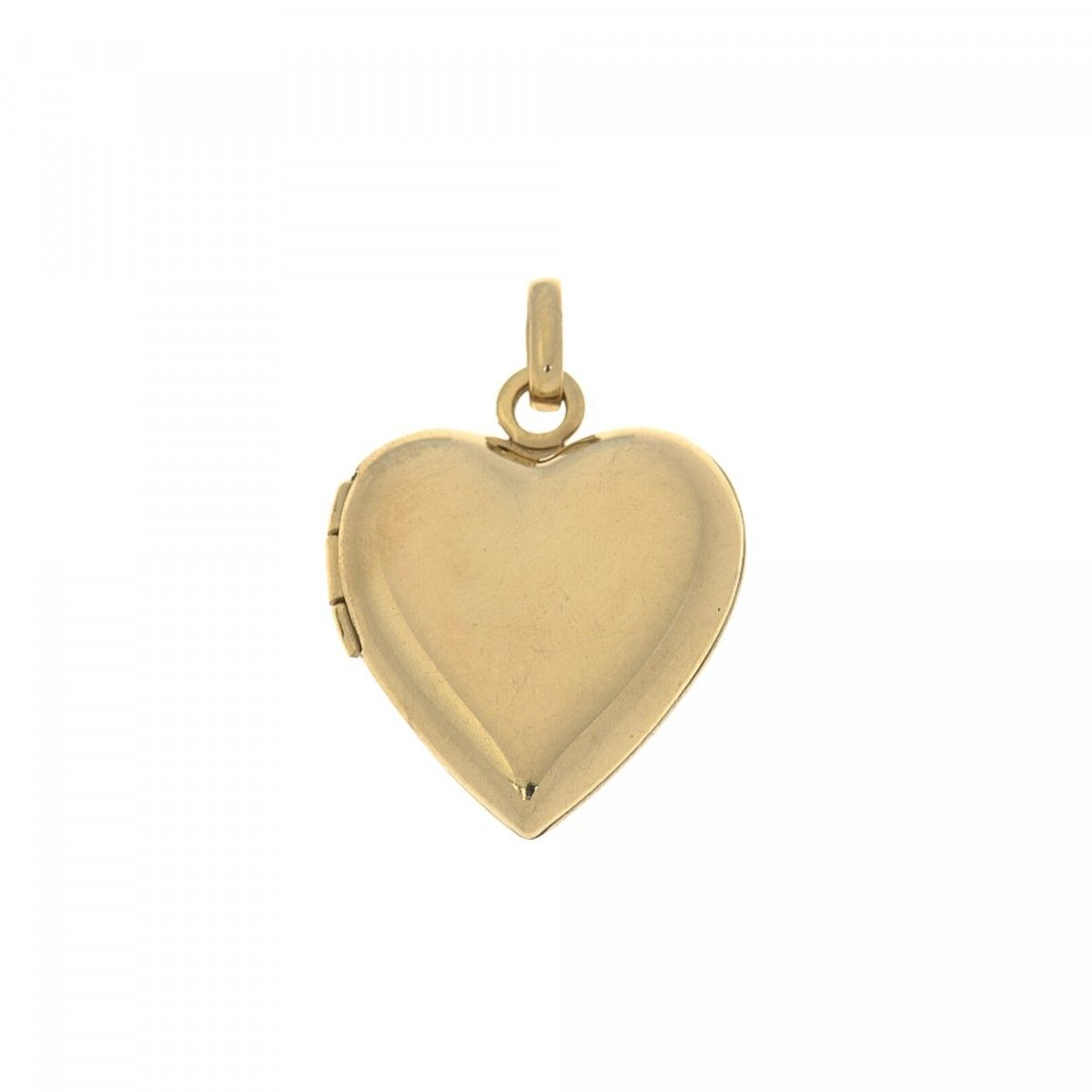 hj shape pendant locket gold with lockets pendants heart diamond itm chain