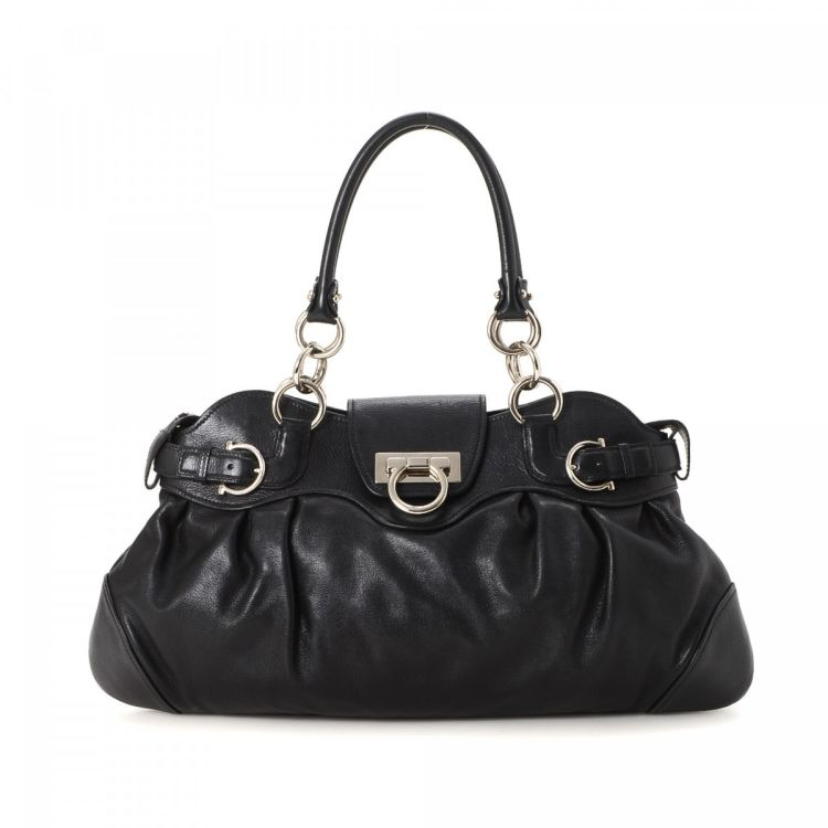 0386c7970cdf The authenticity of this vintage Ferragamo Marisa handbag is guaranteed by  LXRandCo. Crafted in leather