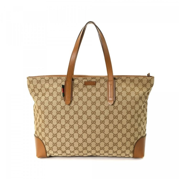 4137da7a994 LXRandCo guarantees the authenticity of this vintage Gucci Original tote.  Crafted in gg canvas