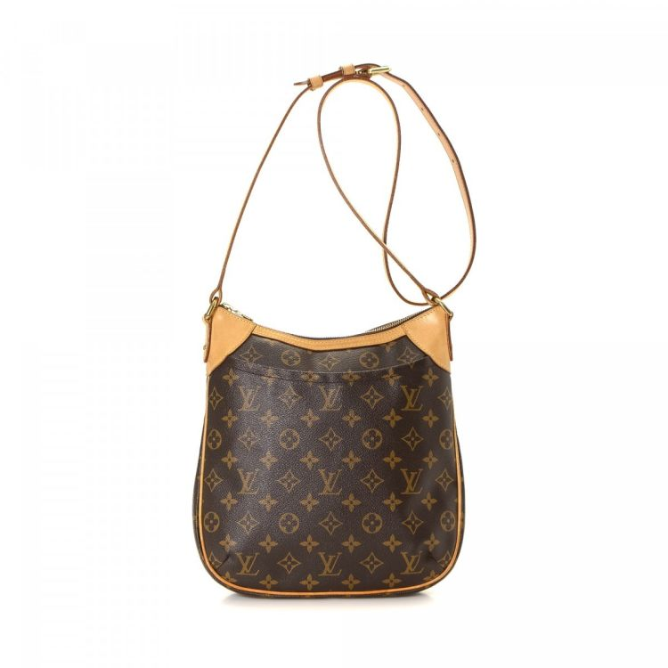 037762ffb56 LXRandCo guarantees this is an authentic vintage Louis Vuitton Odeon PM  messenger   crossbody bag. This elegant hobo bag was crafted in monogram  coated ...