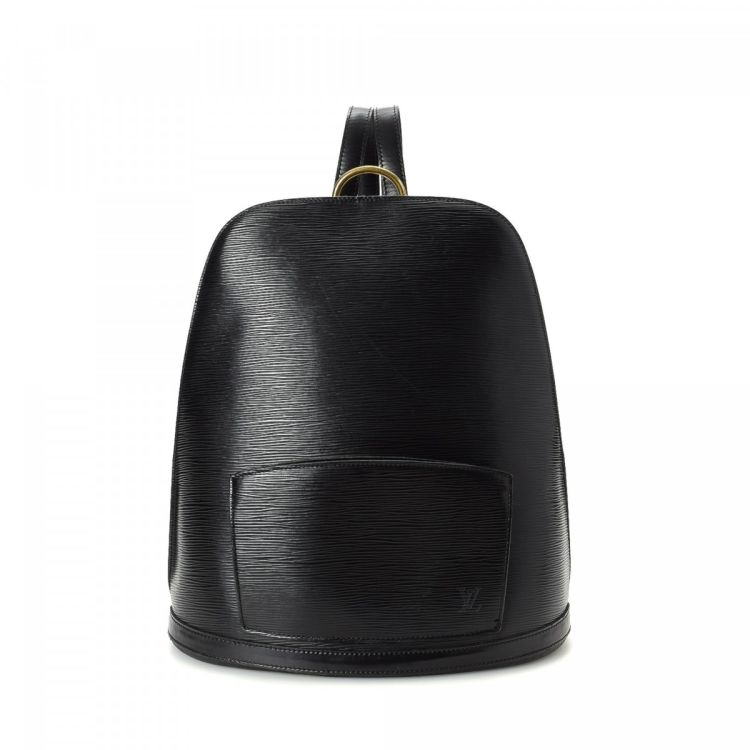 0d31db8466ad The authenticity of this vintage Louis Vuitton Gobelins backpack is  guaranteed by LXRandCo. This stylish pack in black is made in epi leather.