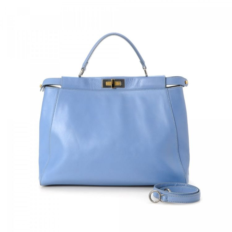 2bad38f8bb LXRandCo guarantees the authenticity of this vintage Fendi Peekaboo handbag.  Crafted in lambskin