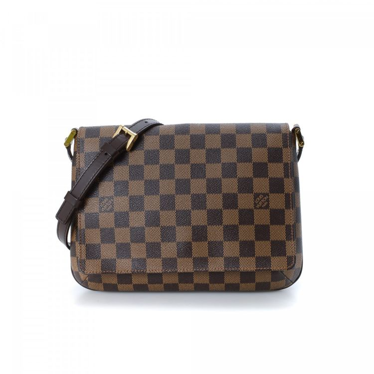 c190d579f3d8 ... Louis Vuitton Musette Tango Long Strap messenger   crossbody bag. This  chic pocketbook was crafted in damier ebene coated canvas in beautiful  brown.