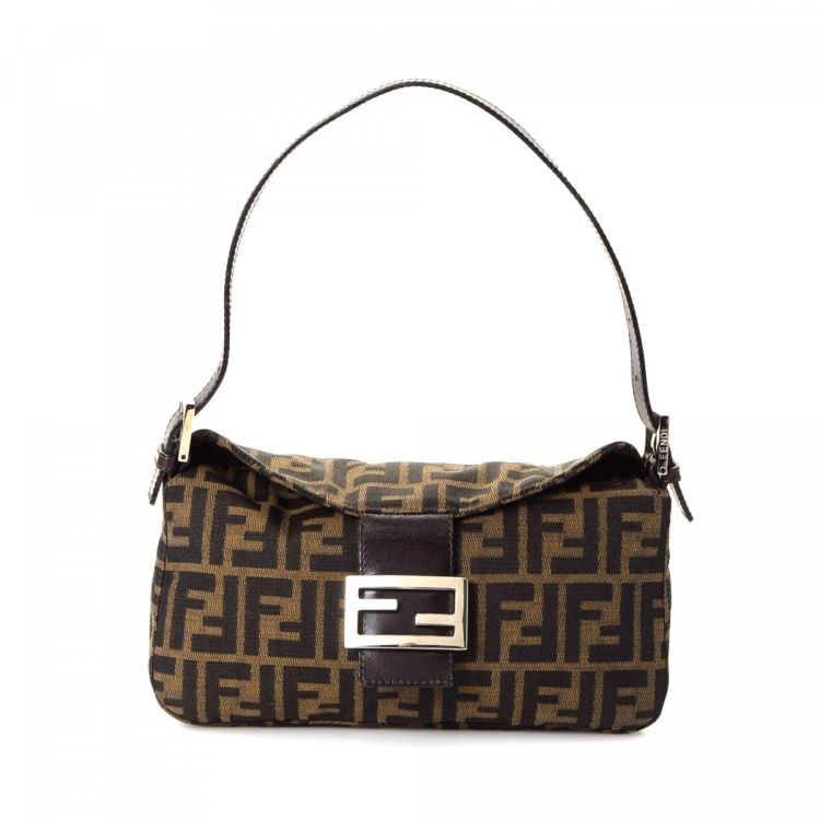 65897097d805 ... reduced fendi zucca shoulder bag zucca canvas lxrandco pre owned luxury  vintage 4b2b1 6ce5f ...
