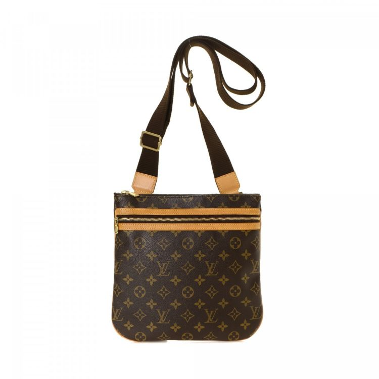 b3f99a3d90a6 LXRandCo guarantees the authenticity of this vintage Louis Vuitton Bosphore Pochette  messenger   crossbody bag. Crafted in monogram coated canvas