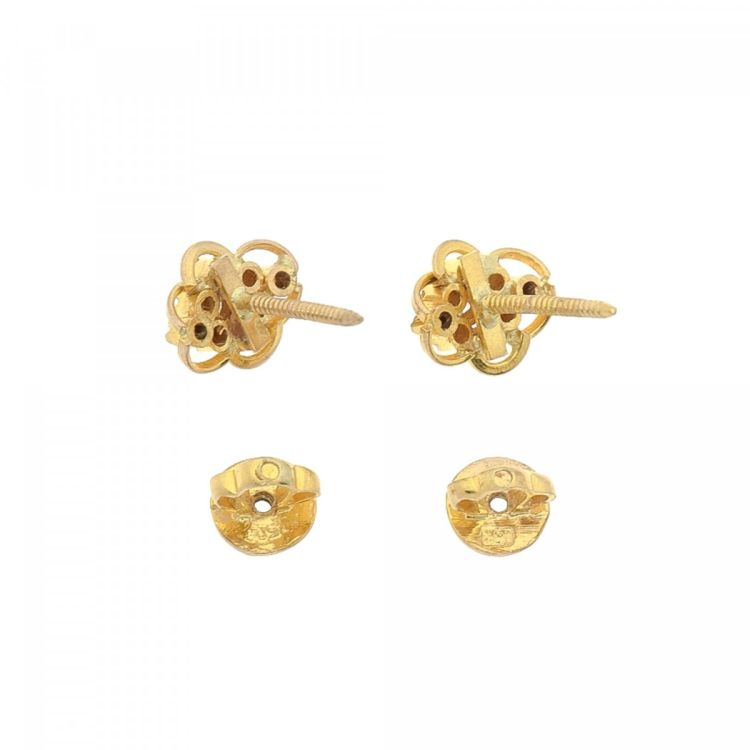 Lxrandco Guarantees The Authenticity Of These Vintage Estate Jewelry Diamond Stud Back Earrings Beautiful Were Crafted In 18k Yellow