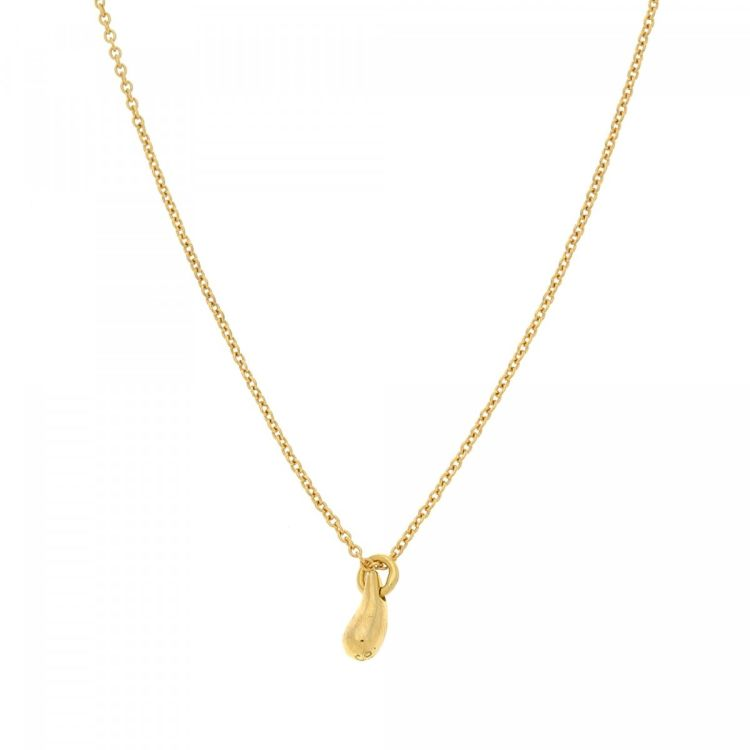 afdbbb599 LXRandCo guarantees the authenticity of this vintage Tiffany Elsa Peretti  Teardrop Pendant 41cm necklace. This stylish chain in gold tone is made of  18k ...